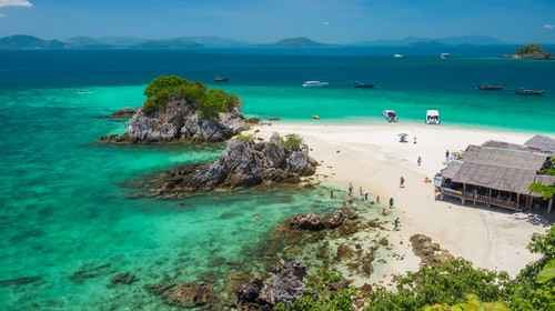 Khai Nok island, tropical beach in sunny day, Phang Nga, Thailand