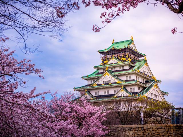 升级3晚酒店 2晚温泉体验 大阪城公园 目黑川 醍醐寺 圆山公园 富士山