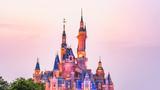 迪士尼城堡夜景