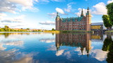 View of Frederiksborg castle in Hillerod, Denmark