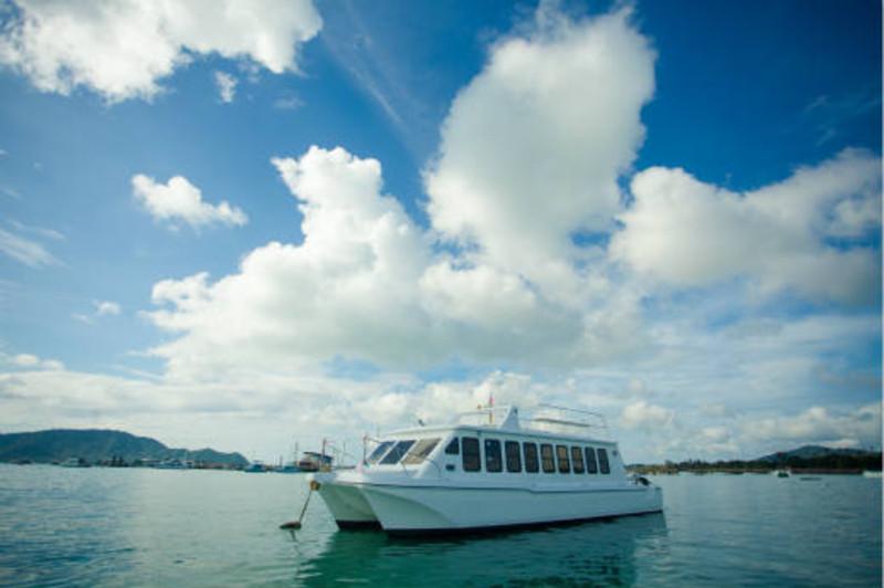 普吉岛 开心猫号 斯米兰 双体快船一日游 豪华双层 双体快船 平稳不