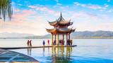 Hangzhou west lake beautiful scenery scenery