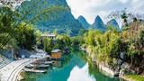 Guilin in Yangshuo, Guangxi, beautiful landscape