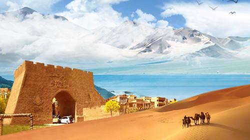 新疆慕士塔格峰风光