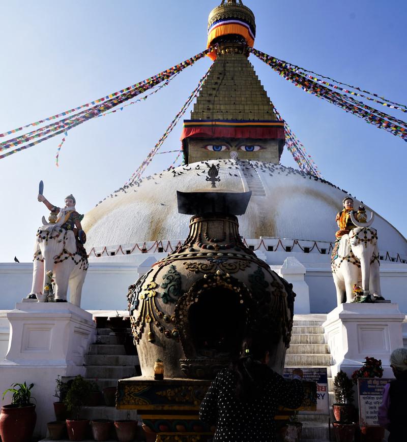 尼泊尔(五) 加德满都大佛塔,猴庙