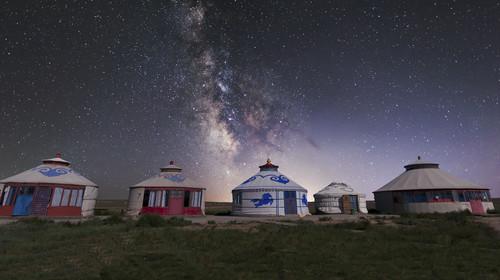 希拉穆仁草原银河