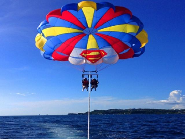 <菲律宾长滩岛一日游水上项目:拖拽伞>中文导游 多伞可选