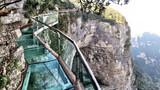 Glass foorbridge on Tianzi Mountain, China
