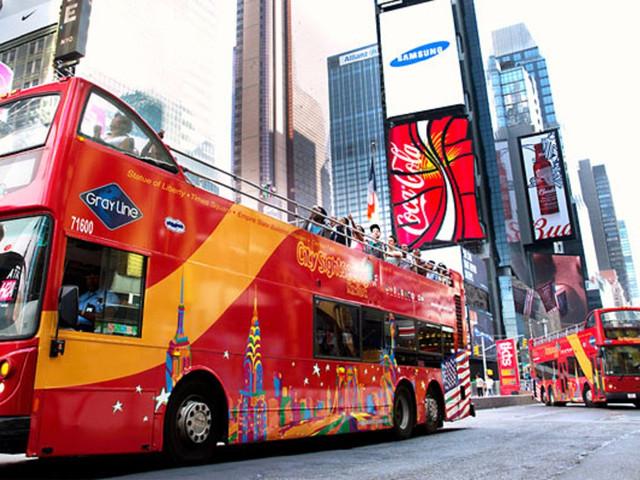 <纽约City Sightseeing随上随下双层观光巴士通票>景点全覆盖,随上随下,1至3日多套餐可选