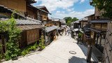 KYOTO, JAPAN - JULY 19, 2016: Japanese traditional shopping street, Ninenzaka in Kyoto.