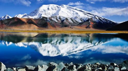 Muztagh Ata and Kare Kul lake