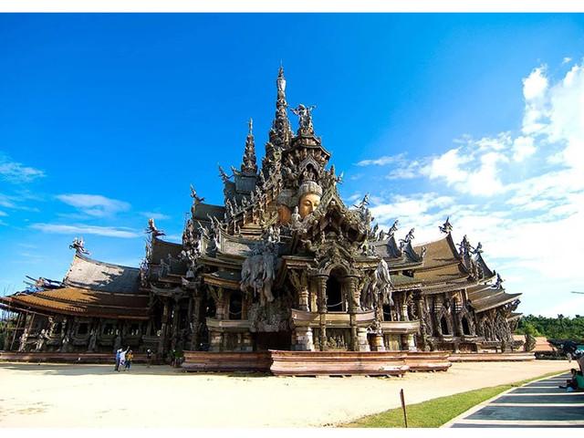 <发现美旅游泰国芭提雅真理寺门票芭堤雅 The Sanctuary of>浓郁文化氛围 精美建筑 拍照打卡圣地