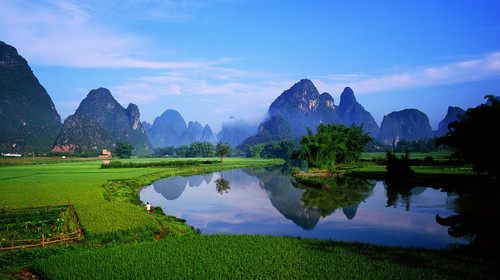 Natural scenery of Elephant Trunk Hill in Guilin, Guangxi Province, China