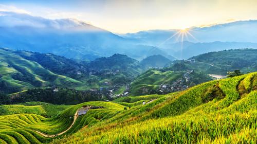 龙脊梯田看日出