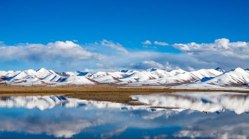 西藏纳木错冬景