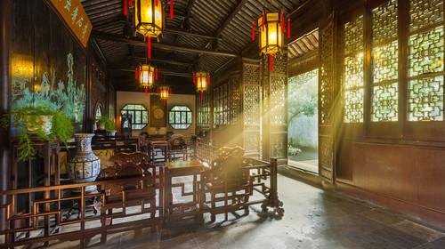 蘇州園林留園清晨