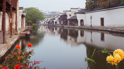 浙江湖州百间楼自然风光