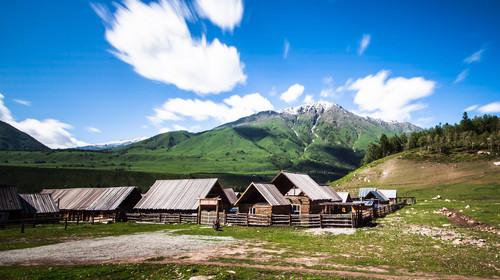 新疆喀纳斯禾木村风光