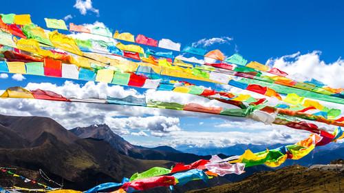 西藏拉萨河风光