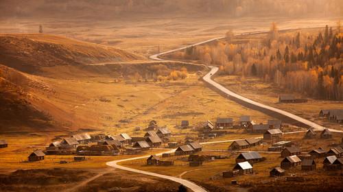 北疆 禾木村冬季风光