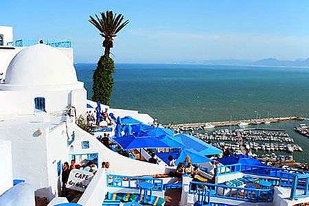 <突尼斯+阿尔及利亚+摩洛哥-北非3国20天游>一价全含全程四星独立领队突尼斯的(蓝白小镇)、三大蓝城之一的(舍夫沙万)
