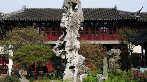 SUZHOU,CHINA - NOV 22:Lingering garden in suzhou on Nov 22,2013 in China.Suzhou lingering garden is one of China
