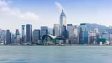 香港维多利亚港城市天际线