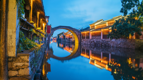 A famous Nanxun ancient town with a long history in Huzhou China