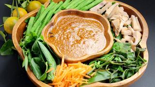 花生酱拌蔬菜