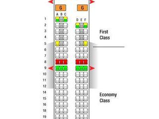 空客320座位图,哪个舒服
