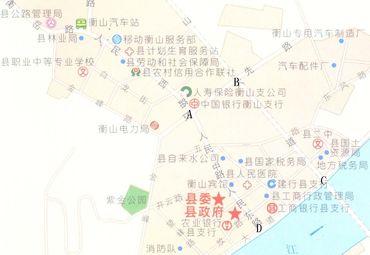 衡山县地图