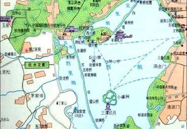 杭州西湖地图