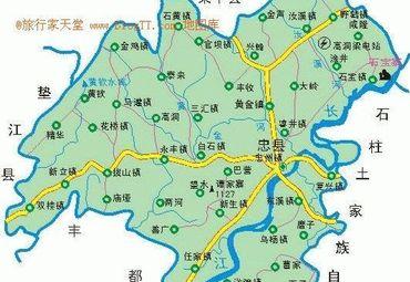 重庆忠县地图