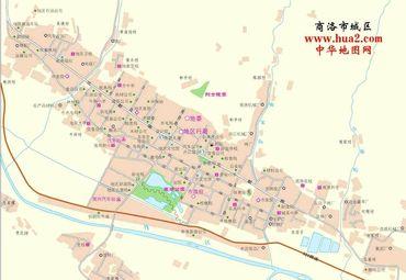 陕西省商洛市城区地图