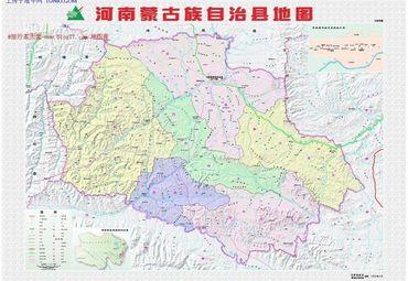 河南蒙古自治县地图
