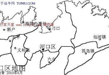 河口区地图图片