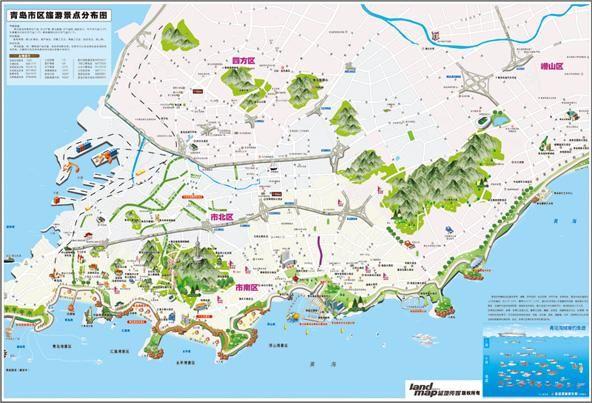 青岛旅游景点地图