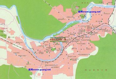 黑龙江伊春市区地图