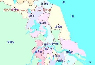 江苏省地级市辖区图