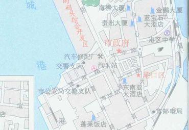 广西壮族自治区防城港市区地图图片