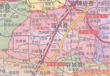 河北省定兴县地图
