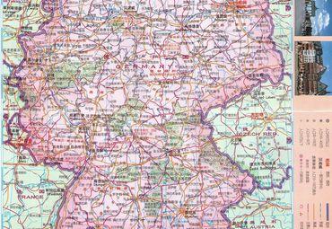 【德国地图中文版】德国全图查询_2016欧洲德国电子图片
