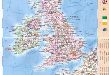 英国地图图片