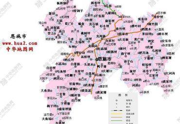 【恩施地图】_全图/查询图片