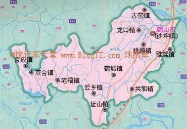 鹤山市区图图片
