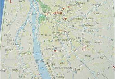 四川都江堰市区地图