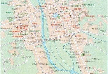 陕西榆林城区图图片
