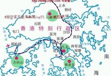 香港地图全图高清
