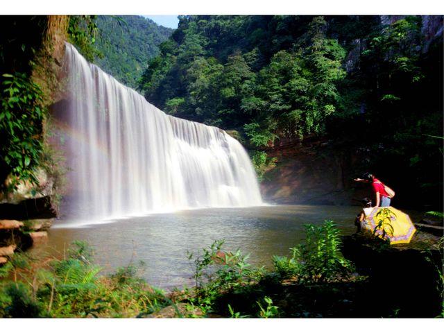 厦门十丈洞瀑布群(赤水大县城)位于赤水攻略东南38公里处,为***瀑布v瀑布风景赤水到图片