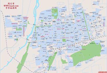内蒙古通辽市城区地图.